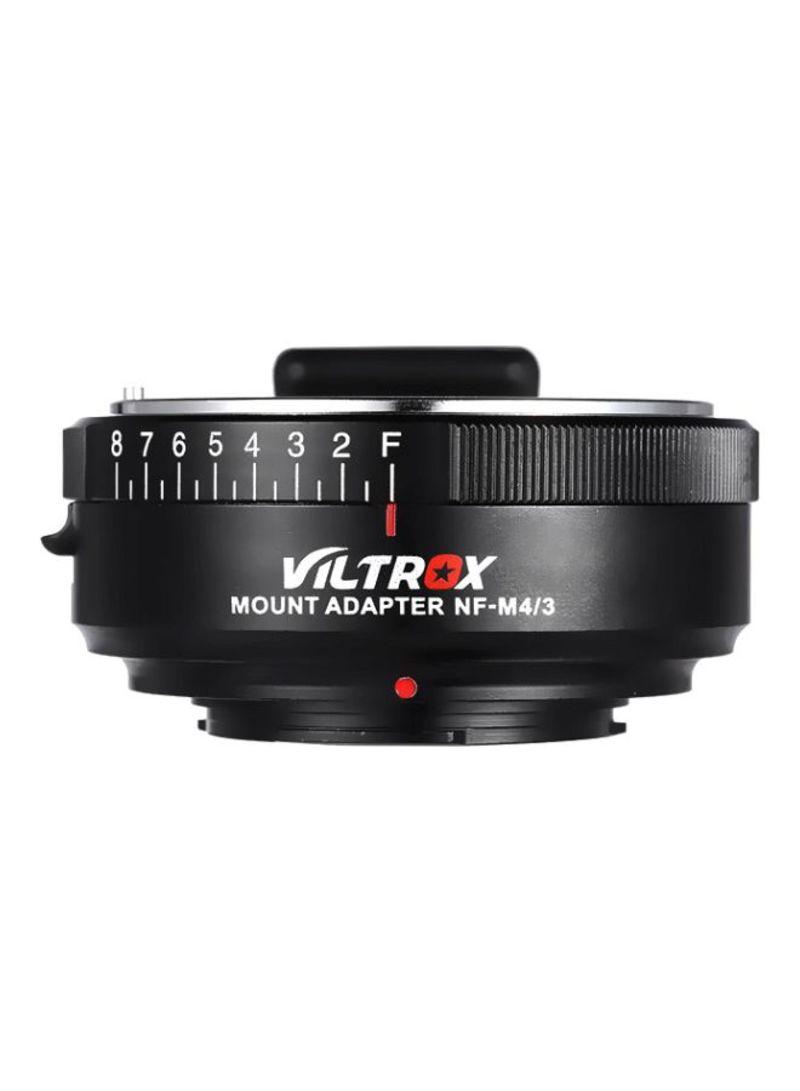 Lens Adapter Ring For Nikon G/F/AI/S/D Type Lens/M4/3 Mount Camera/Panasonic GF1/GF2/GF3/GF5/GF6/G1/Olympus E-M1/E-P1/E-P2/E-P3 Black