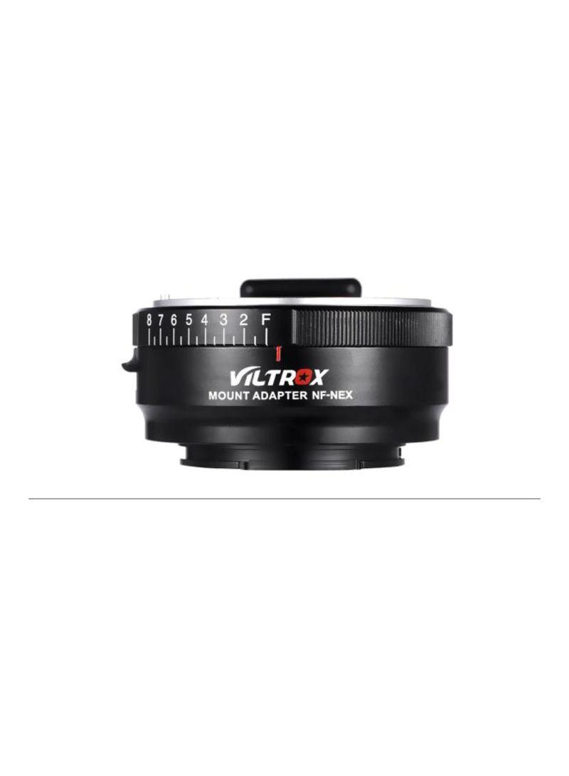 Lens Mount Adapter Ring For Nikon G/F/AI/S/D Lens/Sony E Mount Camera A7/A7R/NEX-5/NEX-3/NEX-5N/NEX-C3/NEX-5R/NEX-F3/NEX-6/NEX-7/NEX-VG10/VG20/VG30 Black