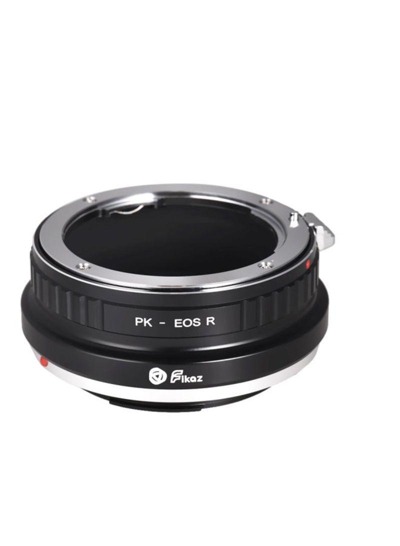 Lens Mount Adapter Ring For Pentax PK-Mount Lens/Canon EOS R/RP RF-Mount Mirrorless Camera PK-EOSR Black/Silver
