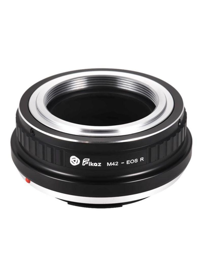 Lens Mount Adapter Ring For M42-Mount Lens/Canon EOS R/RP RF-Mount Mirrorless Camera M42-EOSR Black/Silver