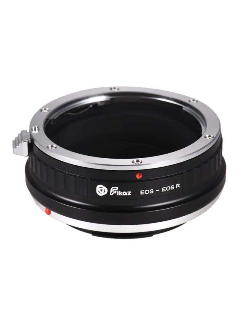 Lens Mount Adapter Ring For Canon EOS EF-Mount Lens/Canon EOS R/RP RF-Mount Mirrorless Camera EOS-EOSR Black/Silver