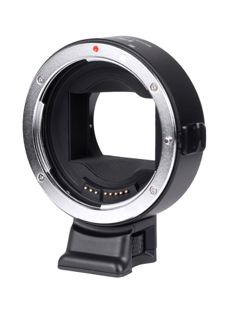 EF-NEX IV Lens Mount Adapter Ring For Canon EF/EF-S/Sony E-Mount A9/A7/A7R/Mk2 A6300/A6500 Black/Silver