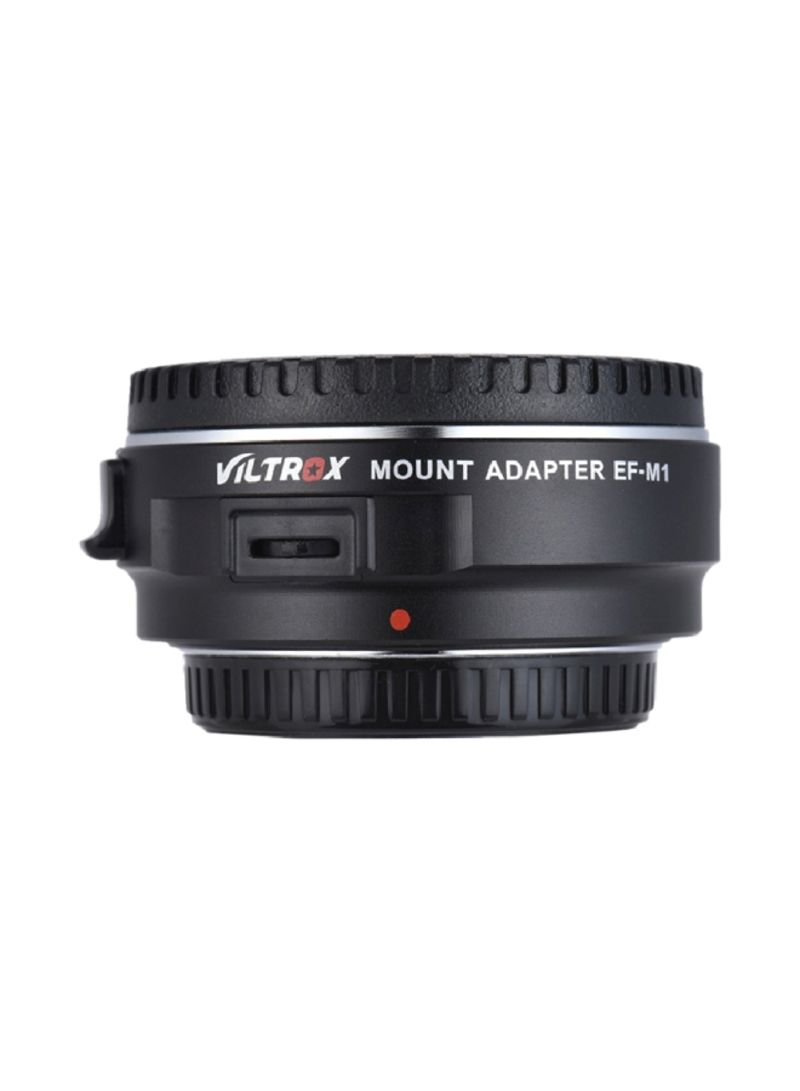 EF-M1 Auto Focus Lens For Canon EF/EF-S To M4/3/Panasonic GH5/4/3 Olympus Black