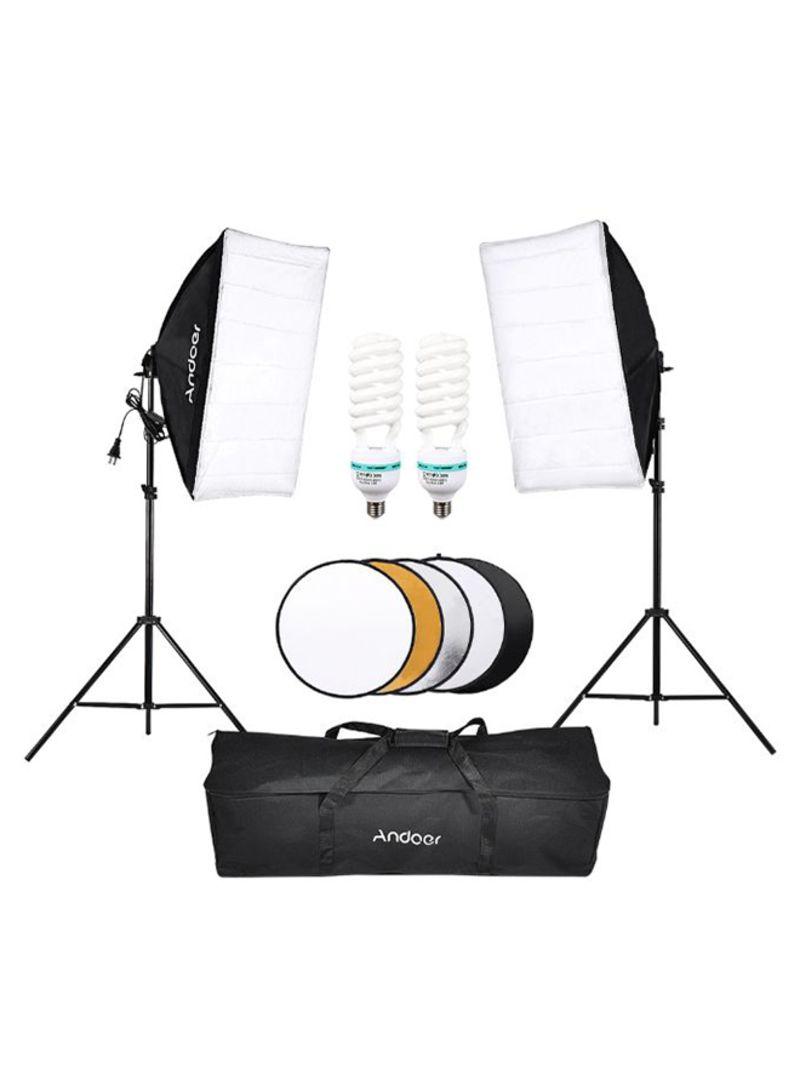 Photography Studio Lighting Kit Black/White