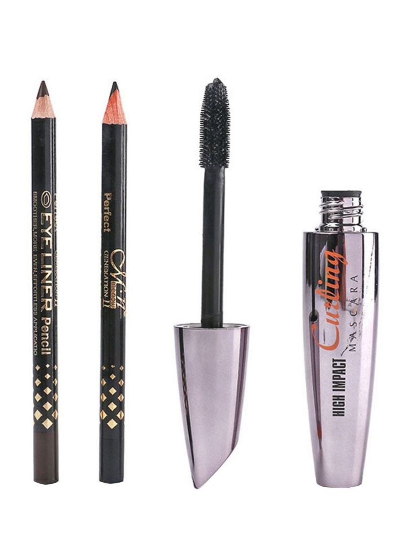High Impact Curling Mascara With Eye Liner Pencil Black/Brown