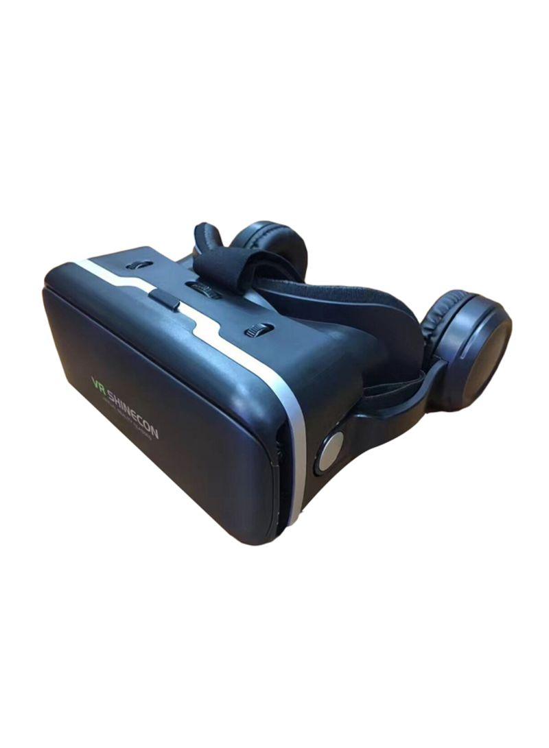 3D VR Headset With Headphones Black/White