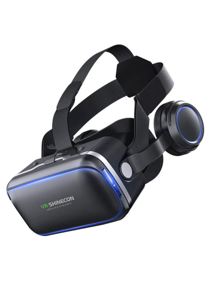 3D Removable Panel VR Headset Black