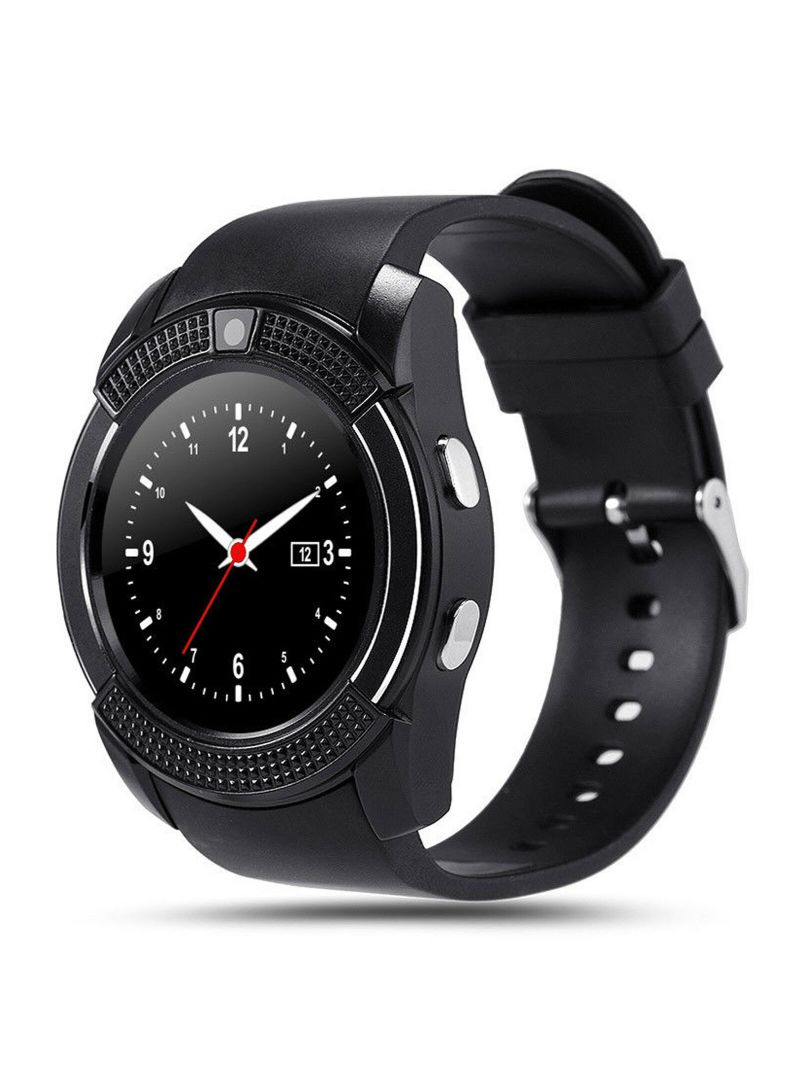 1.22-Inch IPS Display Bluetooth Sim Card Supported Smartwatch Black