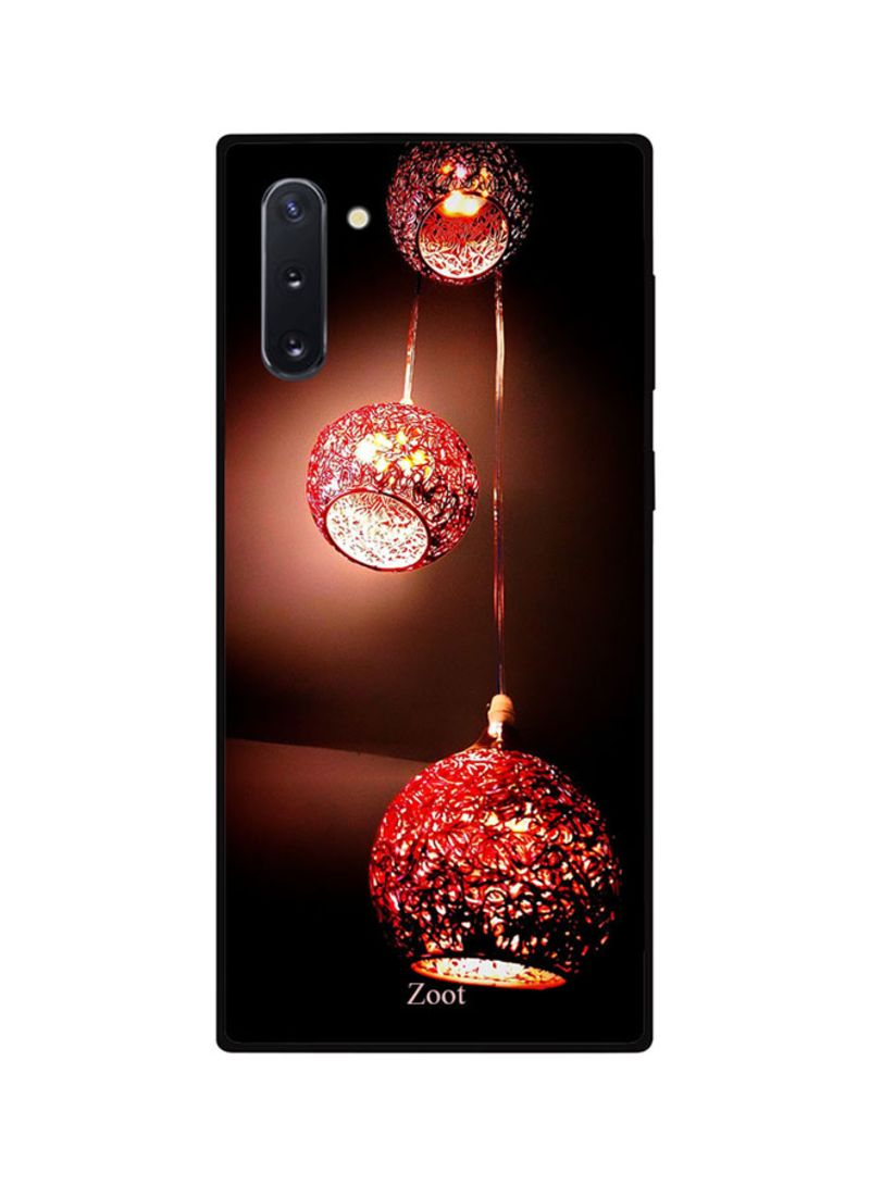 Protective Case Cover For Samsung Note 10 Red Hanging Lamps