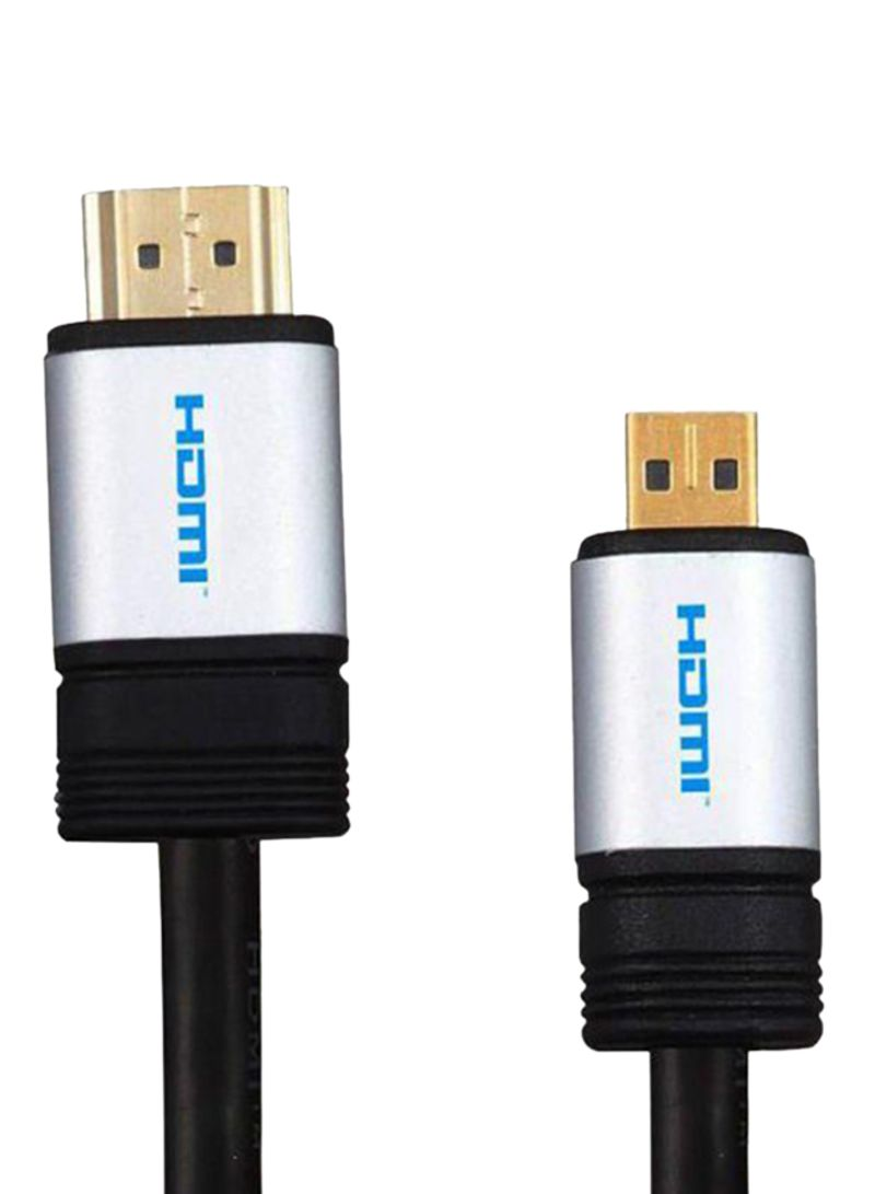 Micro HDMI HDTV Cable Black/Silver/Gold 1.5 meter