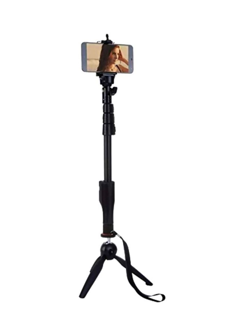 Tripod With Bluetooth Remote Shutter Black