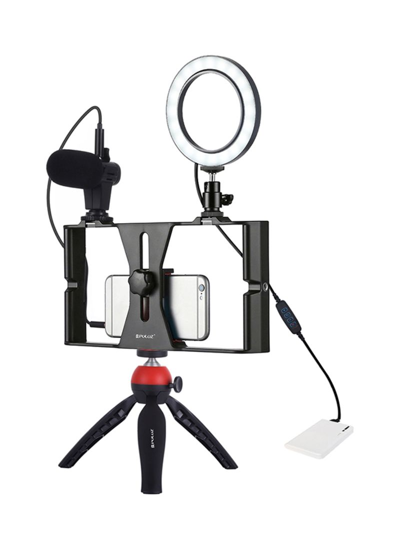 Dimmable Selfie Rings Fill Light With Cell Phone Holder And Tripod Stand Multicolour