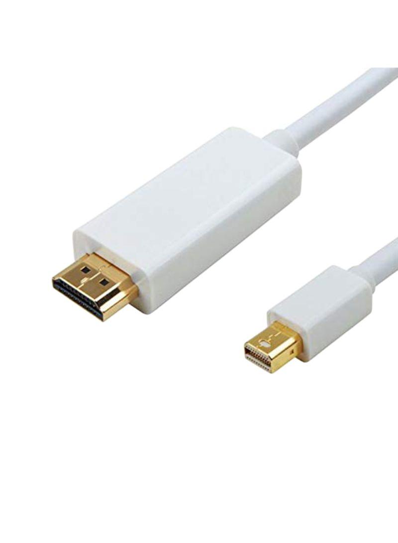 Mini DisplayPort To HDMI Adapter Cable For Dell Precision M380 White