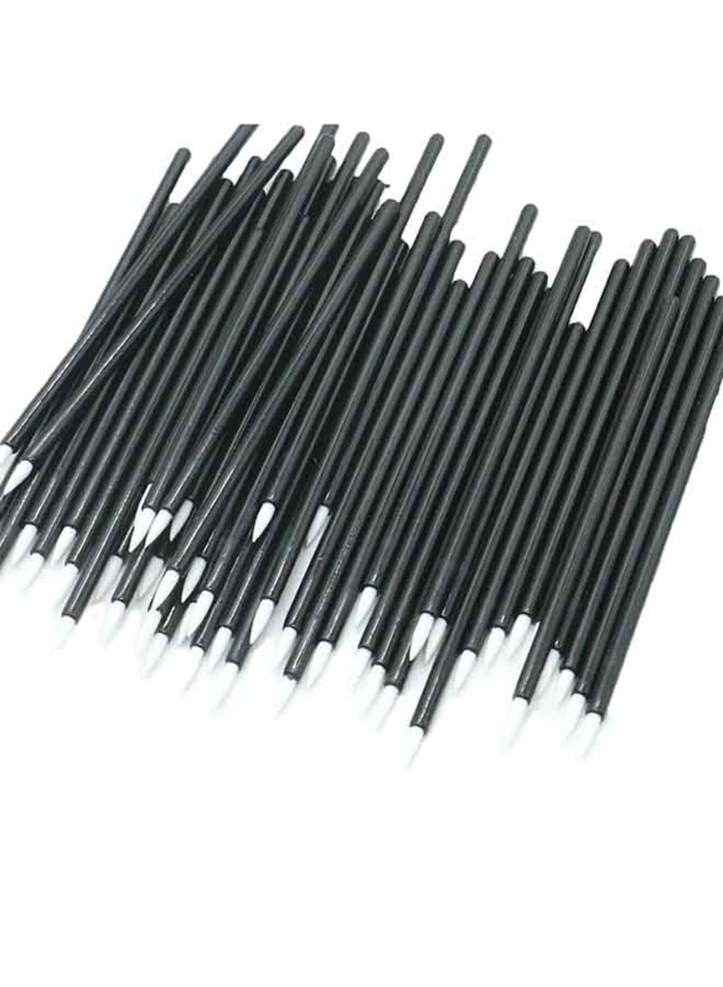 100-Piece Disposable Eyeliner Brush Set Black/White
