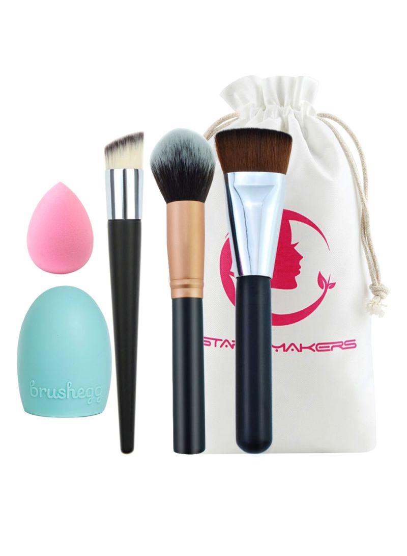 3-Piece Makeup Tools Set Multicolour