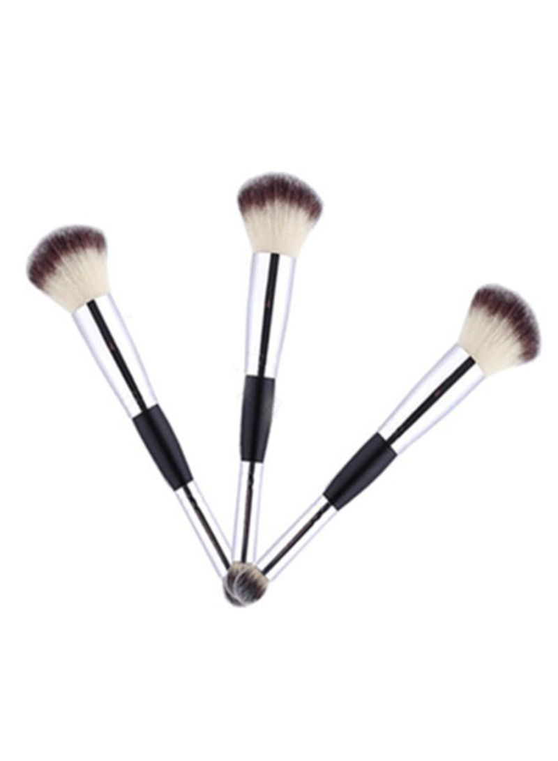 3-Piece Dual-Head Professional Makeup Brush Set Multicolour
