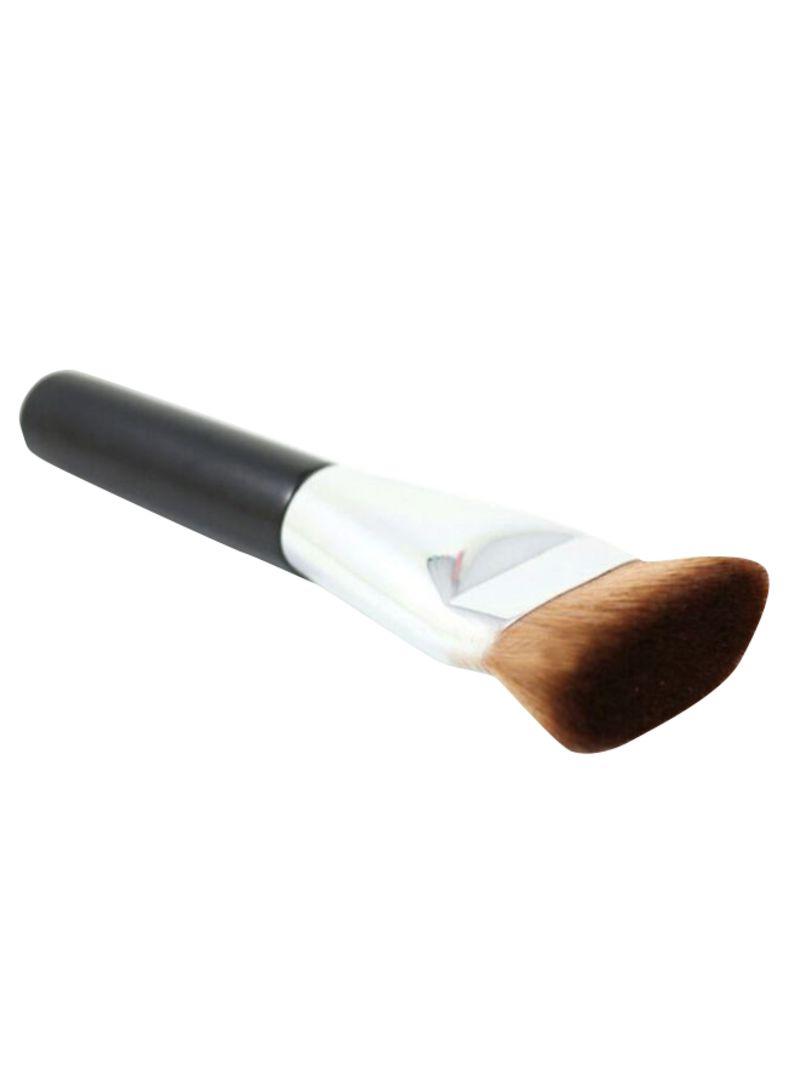 Flat Head Professional Face Powder Brush Black/Silver/Brown