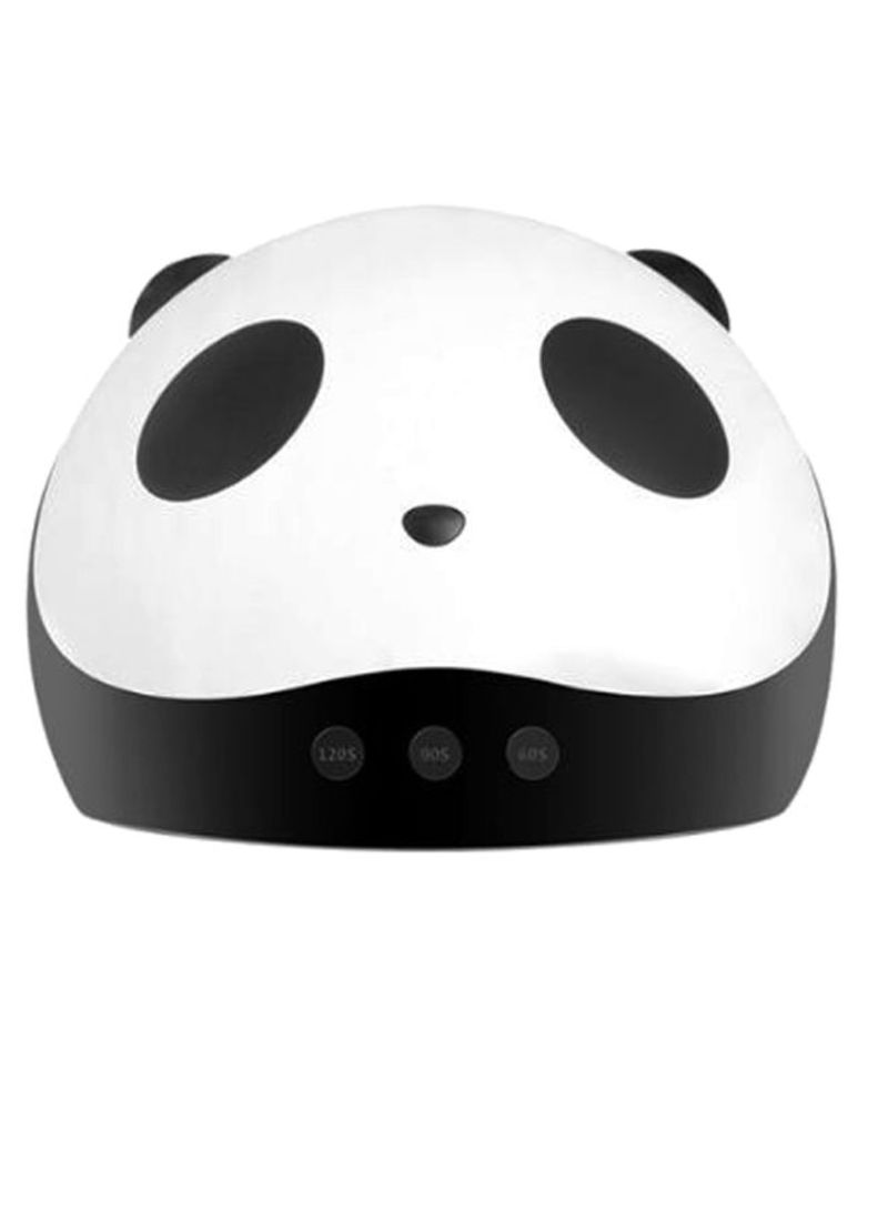 UV LED Lamp Panda Pattern Nail Polish Dryer White/Black