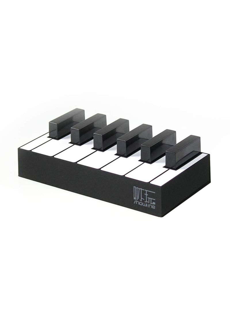 4-Port USB Piano Charging Dock Station Black