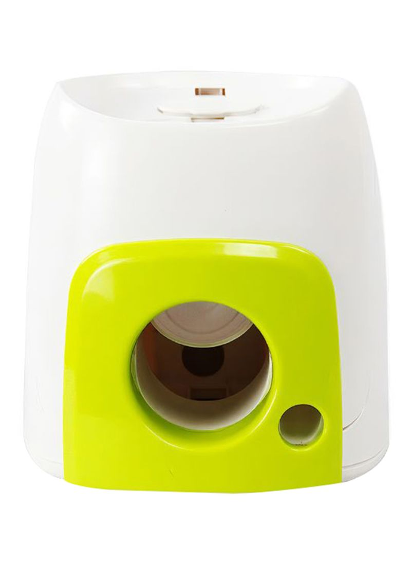 Fetch And Treat Paw Tennis Ball Machine Interactive Toy White/Green