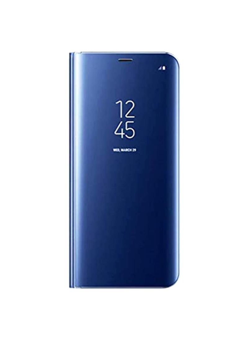 Smart Clear View Flip Cover For Samsung Galaxy S10 Blue