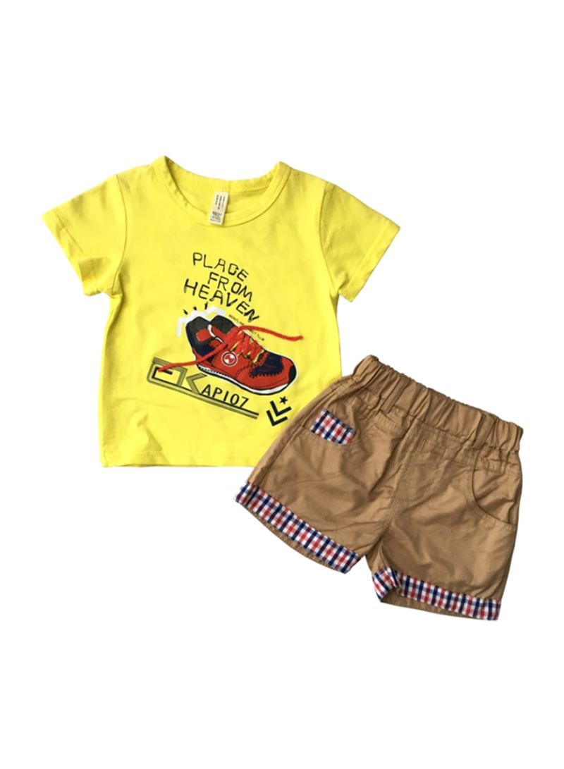 Shoes Design T-shirt And Shorts Set Multicolour