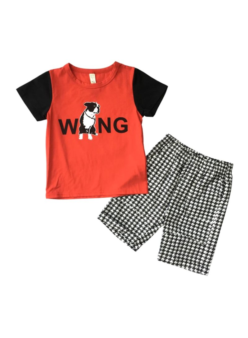 Wang T-Shirt And Shorts Set Multicolour