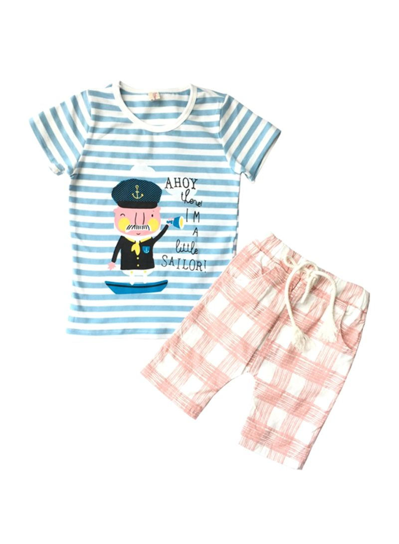 Sailor T-shirt And Shorts Set Multicolour