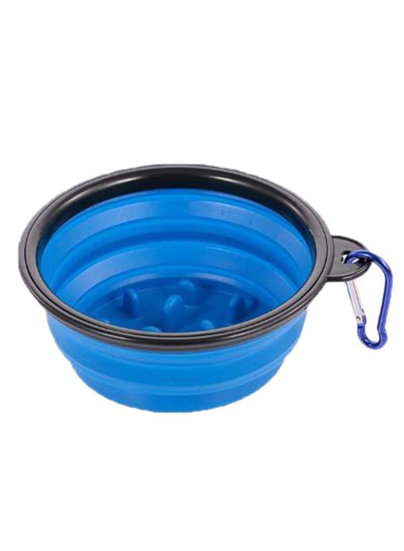 Non-Toxic Foldable Dish Pet Bowl Blue