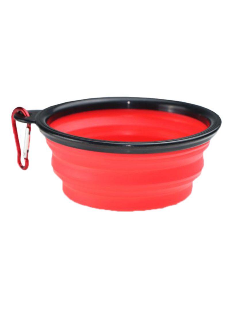 Non-Toxic Foldable Dish Pet Bowl Red