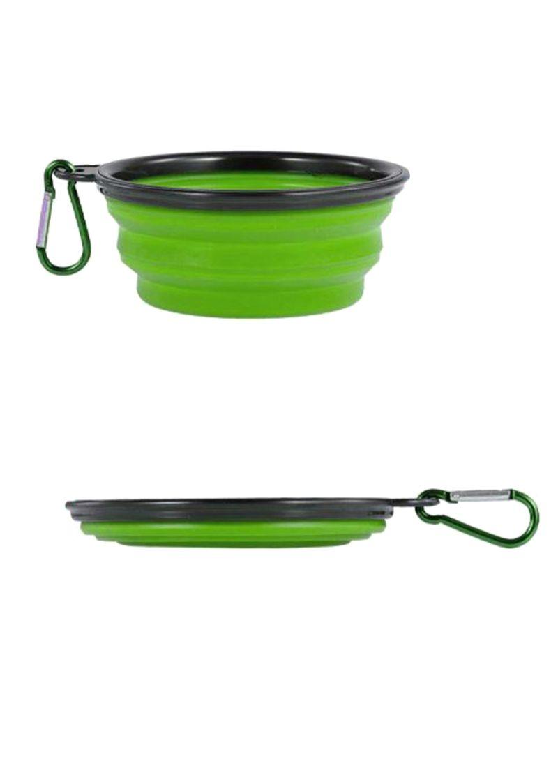 Non-Toxic Expandable Food Bowl Green