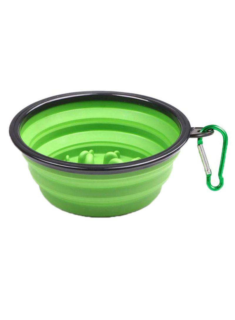 Non-Toxic Foldable Dish Pet Bowl Green