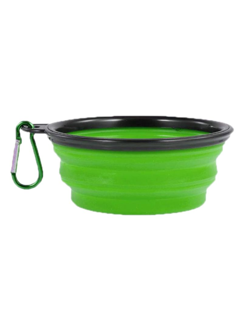 Non-Toxic Collapsible Food Bowl Green
