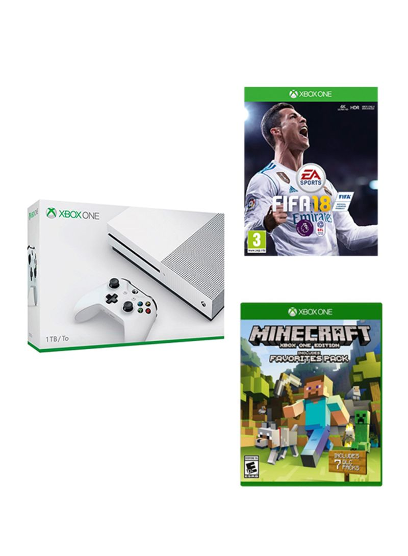 Xbox One S 1TB Console With 2 Games And Controller