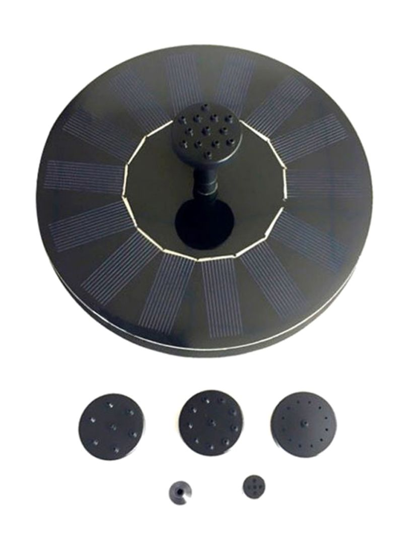 Water Floating Solar Powered Fountain Pump Black/Blue