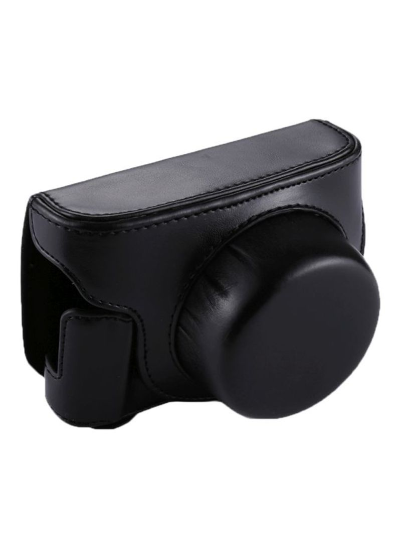 Camera Case With Strap For Panasonic Lumix GF7/GF8/GF9 Black