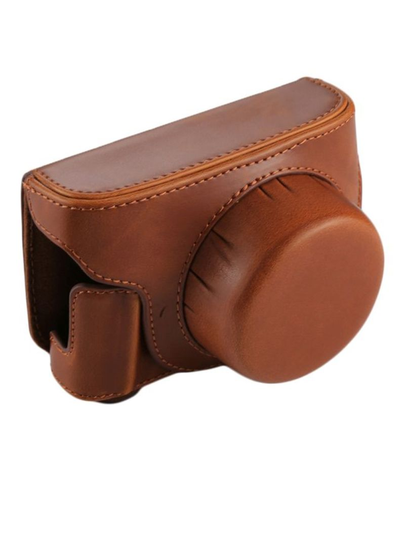 Camera Case With Strap For Panasonic Lumix GF7/GF8/GF9 Brown