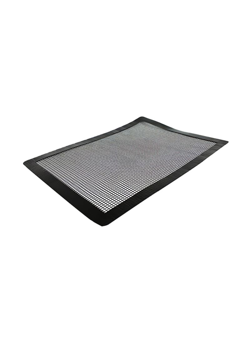 Non-Stick Grill Mesh Mat For Barbecue Fish Meat Vegetables Black 33.00 x 4.00 x 4.00 centimeter
