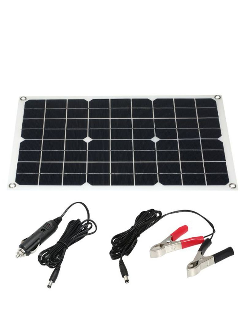 Solar Panel With Battery Charger Injector And USB Interface Black/White/Silver