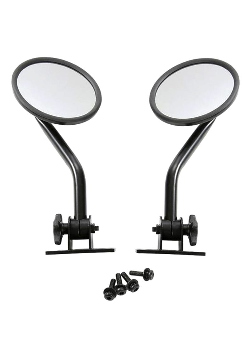 Pair Of Side Rear Round Mirrors For Jeep Wrangler