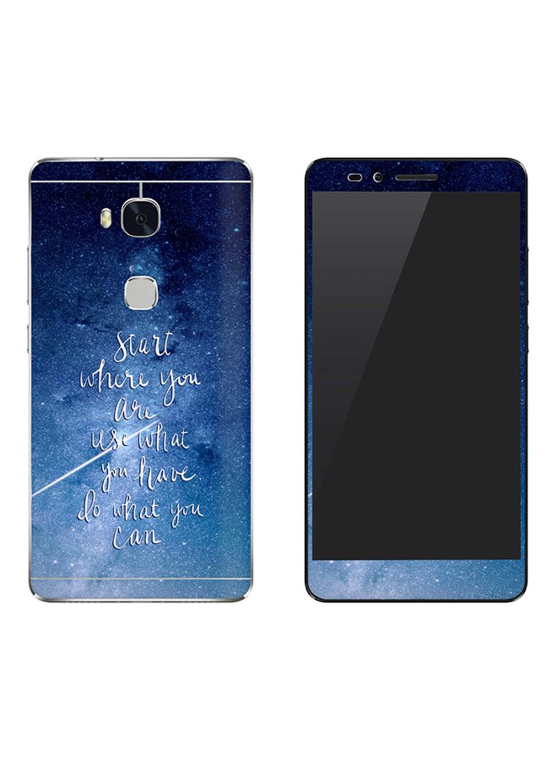 Vinyl Skin Decal For Huawei Honor 5X Start, Use, Do
