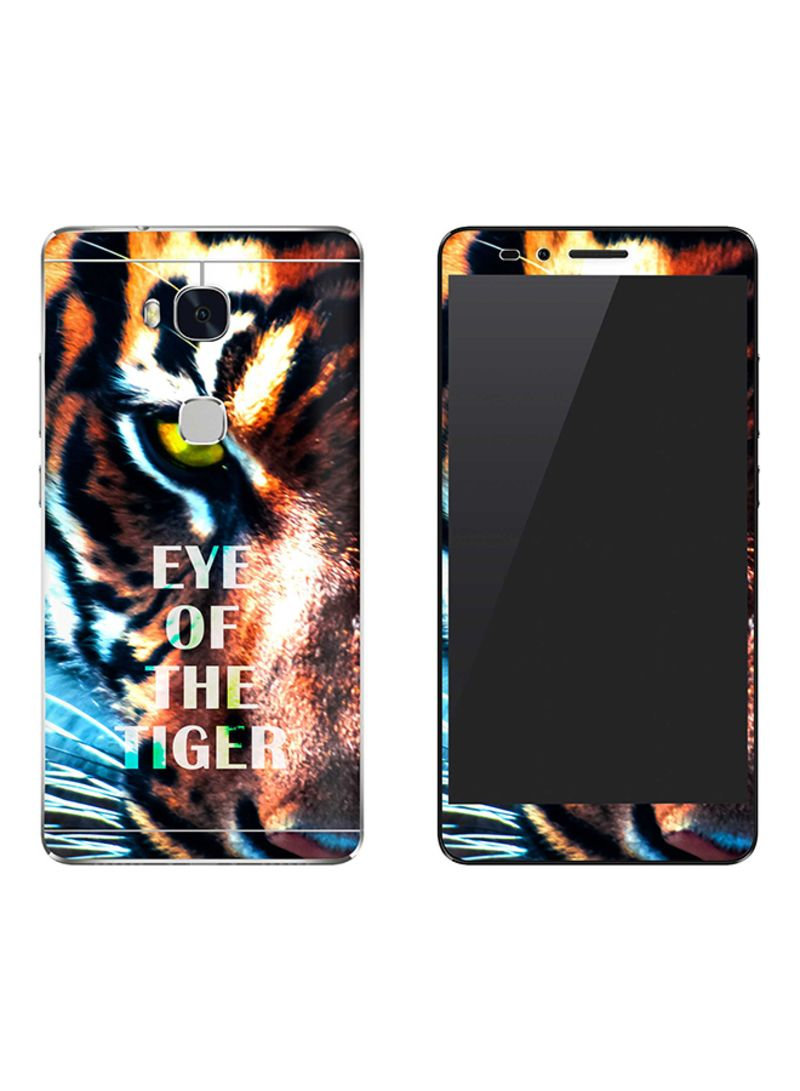 Vinyl Skin Decal Body Wrap For Huawei Honor 5X Eye Of The Tiger
