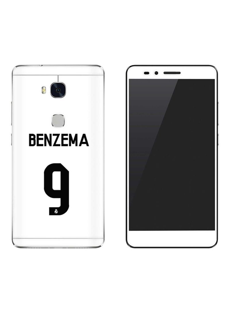Vinyl Skin Decal For Huawei Honor 5X Benzema Real Jersey