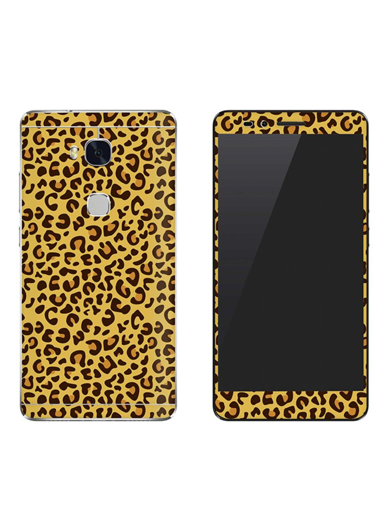 Vinyl Skin Decal For Huawei Honor 5X Leopard Skin