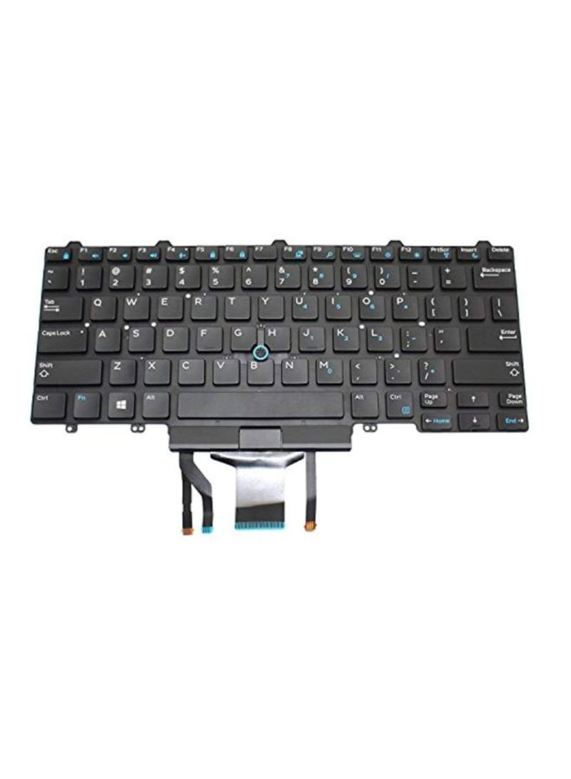 Replacement Backlit Keyboard With Point Stick For Dell Latitude 14 5000 Black