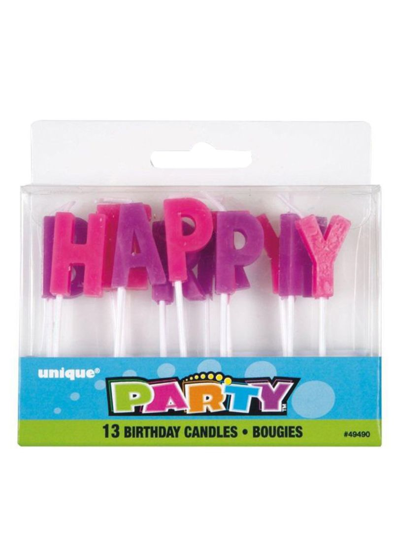 13-Piece Happy Birthday Letter Pick Candles Set