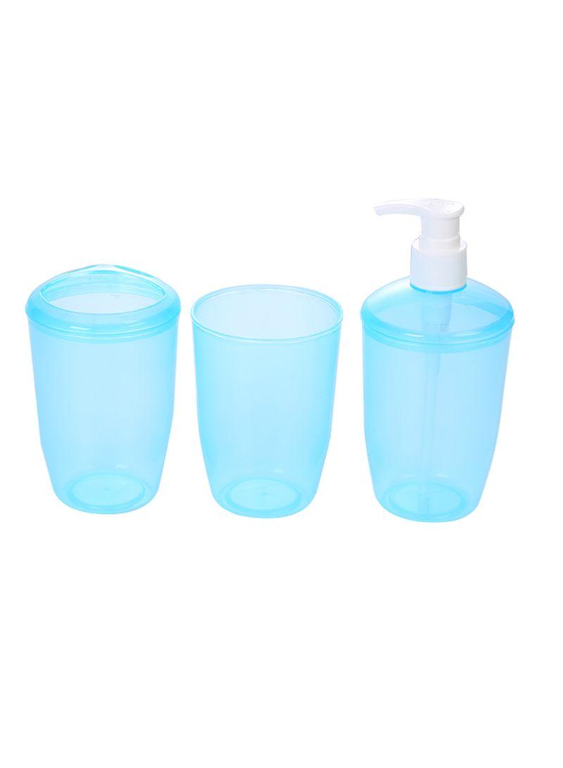 3 In 1  Bathroom Accessories Blue 30 centimeter