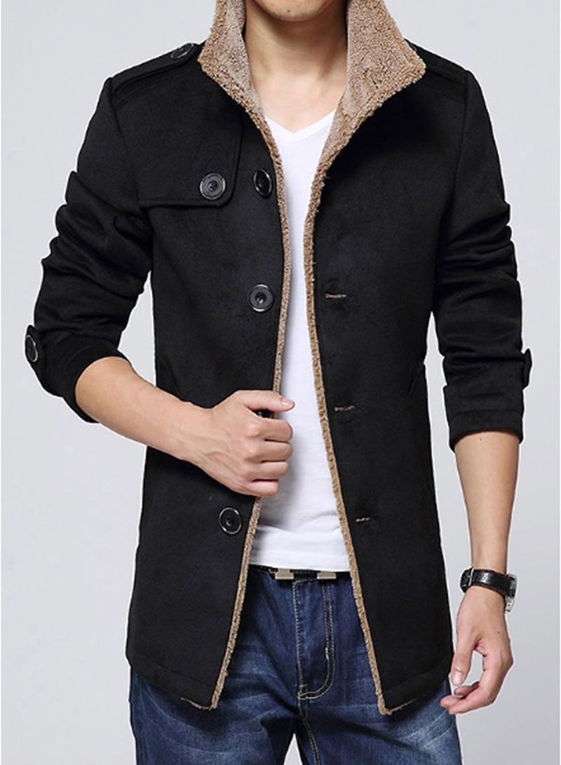 Casual Coat Outerwear Black