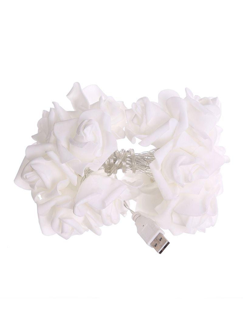20 LED Wedding Rose Pattern Romantic Chains String Lights Multicolour 2.3 meter
