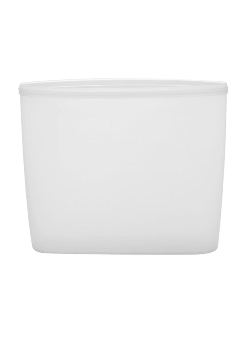 3-Piece Reusable Food Storage Container Set White 24 x 8 x 10.5 centimeter
